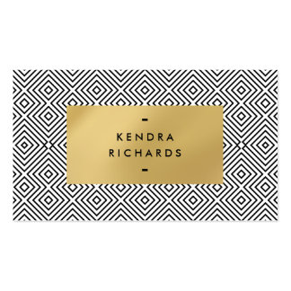 Diamond Pattern with Faux Gold Plaque Pack Of Standard Business Cards