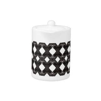 Diamond-Patterned Teapot