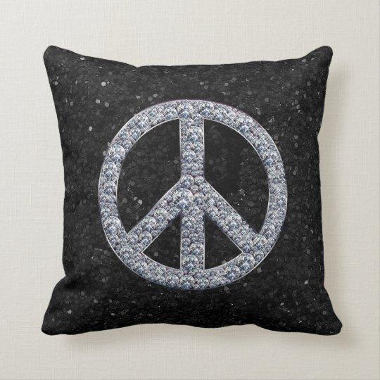 Diamond Peace Sign Pillow