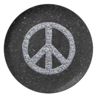 Diamond Peace Sign Plate