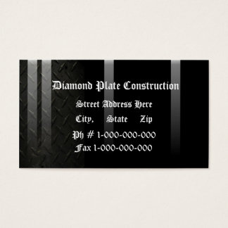 Diamond Plate Design Business Card