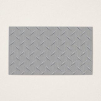 Diamond Plate Metal Business Card