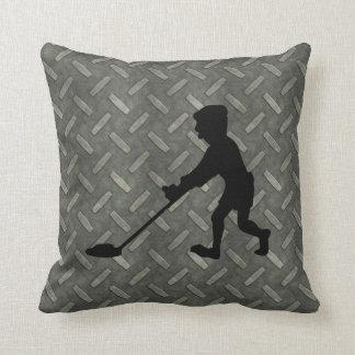 Diamond Plate Metal Detecting Man Cushion