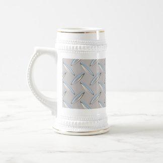 Diamond Plate Metallic Coffee Mugs