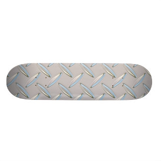 Diamond Plate Metallic Skate Deck