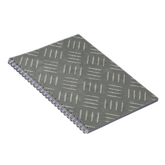 Diamond Plate Stainless Steel Textured Note Books