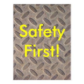Diamond Plate Steel Floor, Safety First! Flyers