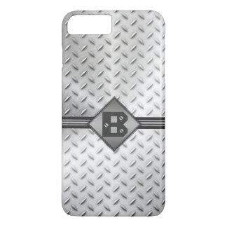 Diamond Plate Steel, Monogram iPhone 8 Plus/7 Plus Case