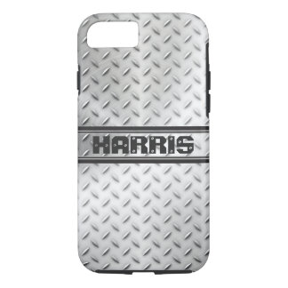 Diamond Plate Steel with Name iPhone 8/7 Case