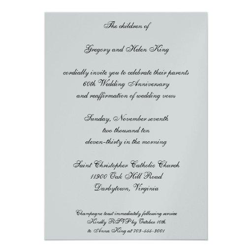 Diamond & Platinum invitation