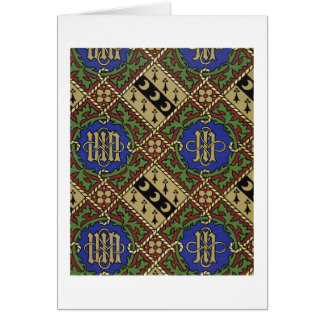 Diamond print ecclesiastical wallpaper design card