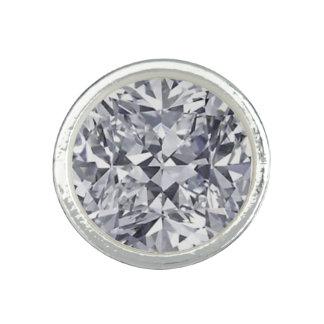 diamond printed image ring