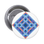 Diamond Quilt in Blue and Purple 6 Cm Round Badge