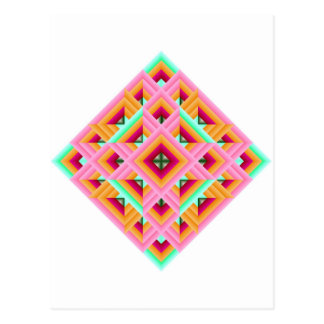 Diamond Quilt in Pink and Green Postcard