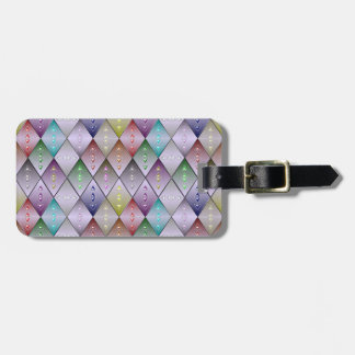 Diamond Quilt Pattern Custom Luggage Tag