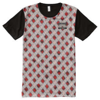 Diamond Red Polka Dots Designer Modern T-Shirt All-Over Print T-Shirt