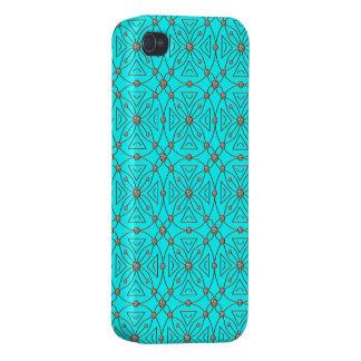 Diamond rhinestones pattern blue case for iPhone 4