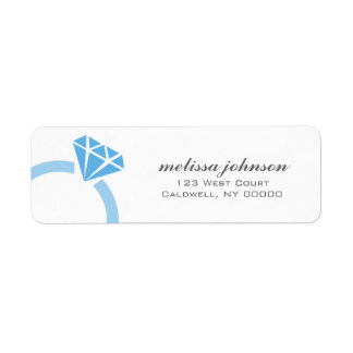 Diamond Ring Address Labels