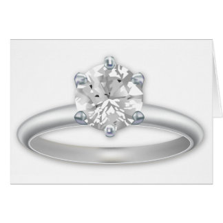 Diamond Ring Bling Clipart Greeting Card