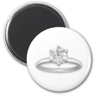 Diamond Ring Bling Clipart Graphic 6 Cm Round Magnet