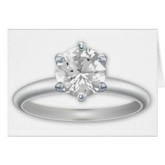 Diamond Ring Bling Clipart Greeting Card