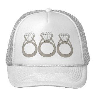 Diamond Ring Bling Jewelry Bride Wedding Hat