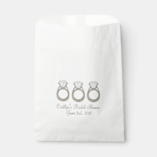 Diamond Ring Bridal Shower Wedding Favor Bag