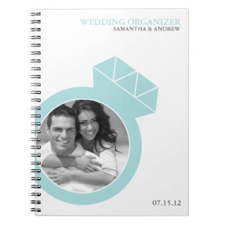 Diamond Ring Custom Photo Wedding Organizer Notebook
