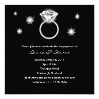 Diamond Ring Engagement Party Invitation