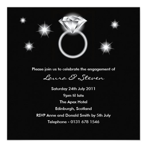Diamond Ring Engagement Party Invitation