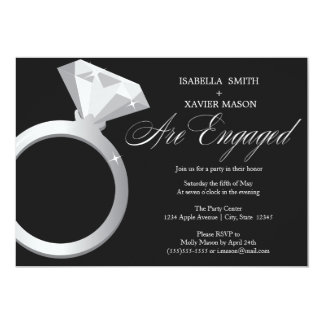 Diamond Ring Engagement Party Invite