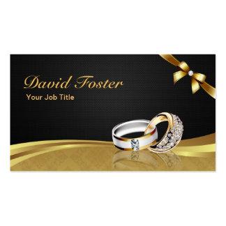 Diamond Ring Gold Jeweler Jewelry Jewellery Pack Of Standard Business Cards