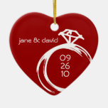 Diamond Ring Keepsake Wedding Ornament