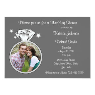 Diamond Ring Wedding Shower Party Invitation 5x7