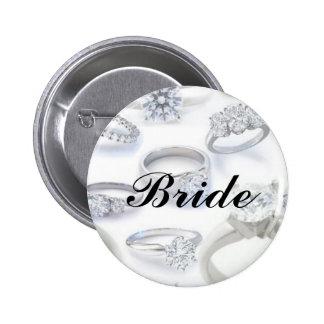 Diamond Rings 6 Cm Round Badge