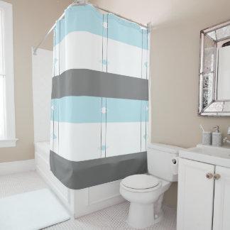 Diamond Shower Curtain - White,Gray,Blue