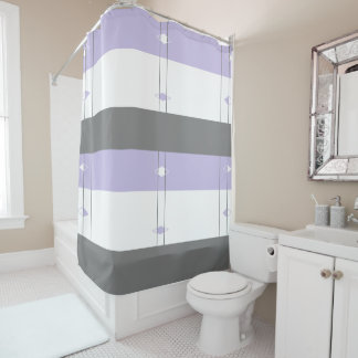 Diamond Shower Curtain - White,Gray,Purple