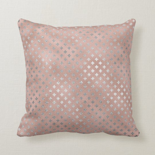 Diamond Silver Pink Rose Gold Powder Glass Throw