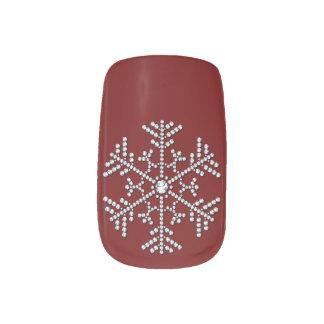 Diamond Snow Flake Nails Sticker