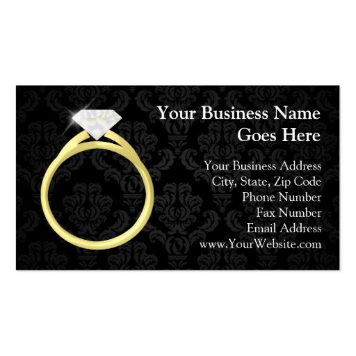 Diamond Solitaire Ring Business Card Templates