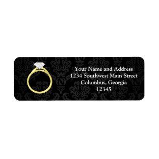 Diamond Solitaire Ring Return Address Label