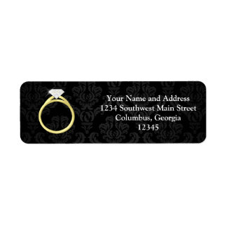 Diamond Solitaire Ring Return Address Label