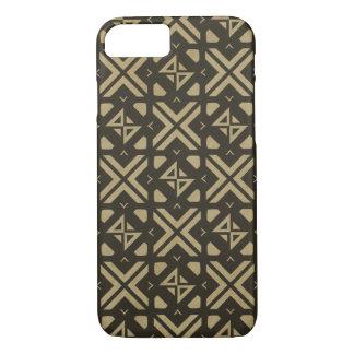 Diamond square modern tribal print Gold iPhone 8/7 Case