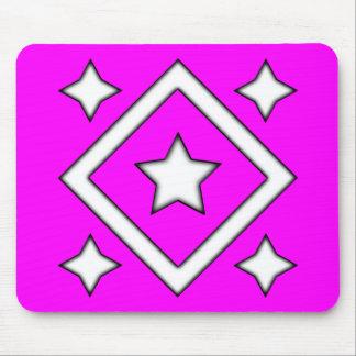Diamond Star Design Pink Mousepads