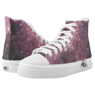 Diamond Star Hi Top Shoes-Space Collection Printed Shoes