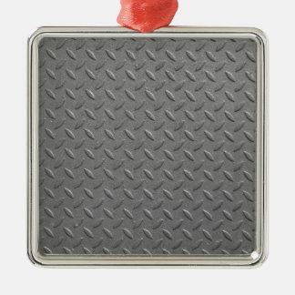Diamond steel Silver-Colored square decoration