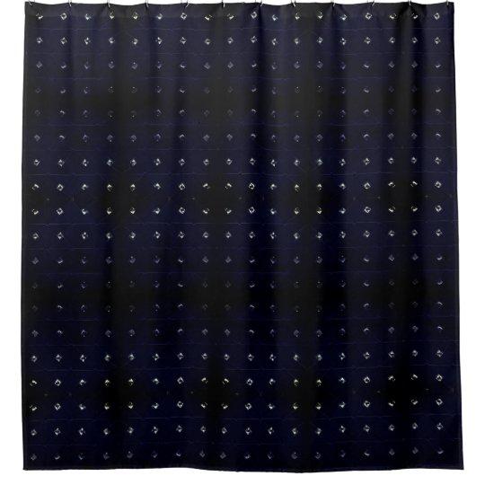 Diamond Stud Blue Shower Curtain