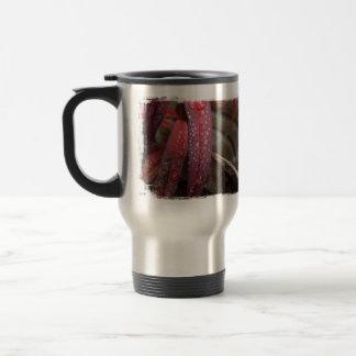 Diamond Studded Leaf Stainless Steel Travel Mug