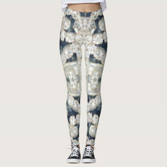 Diamond studded leggings