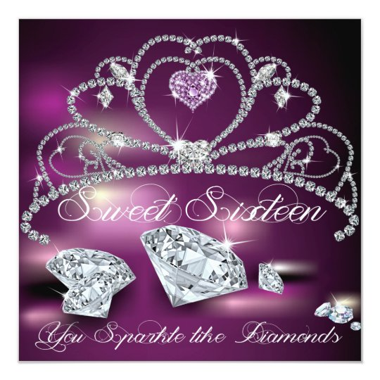 Diamond Tiara Glitzy Sweet Sixteen Card